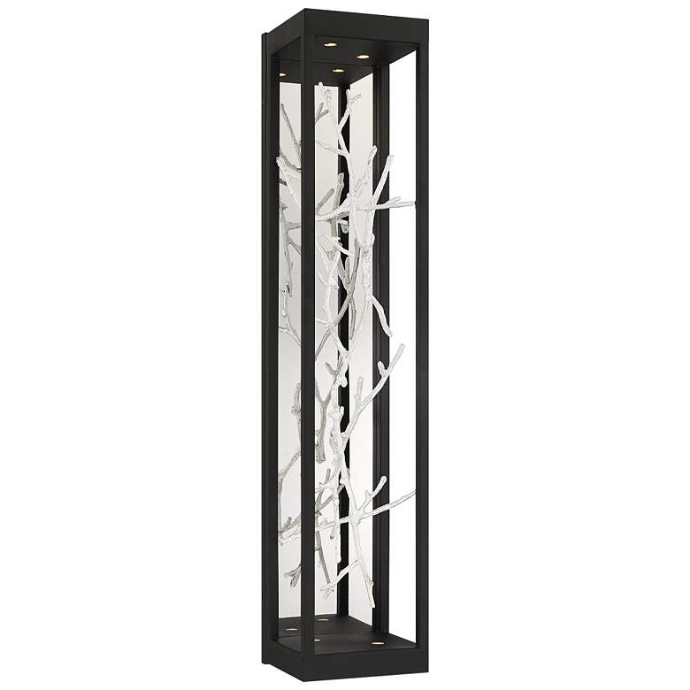 """Eurofase Aerie 30"""" High Black and Silver 4-Light LED Wall Sconce"""
