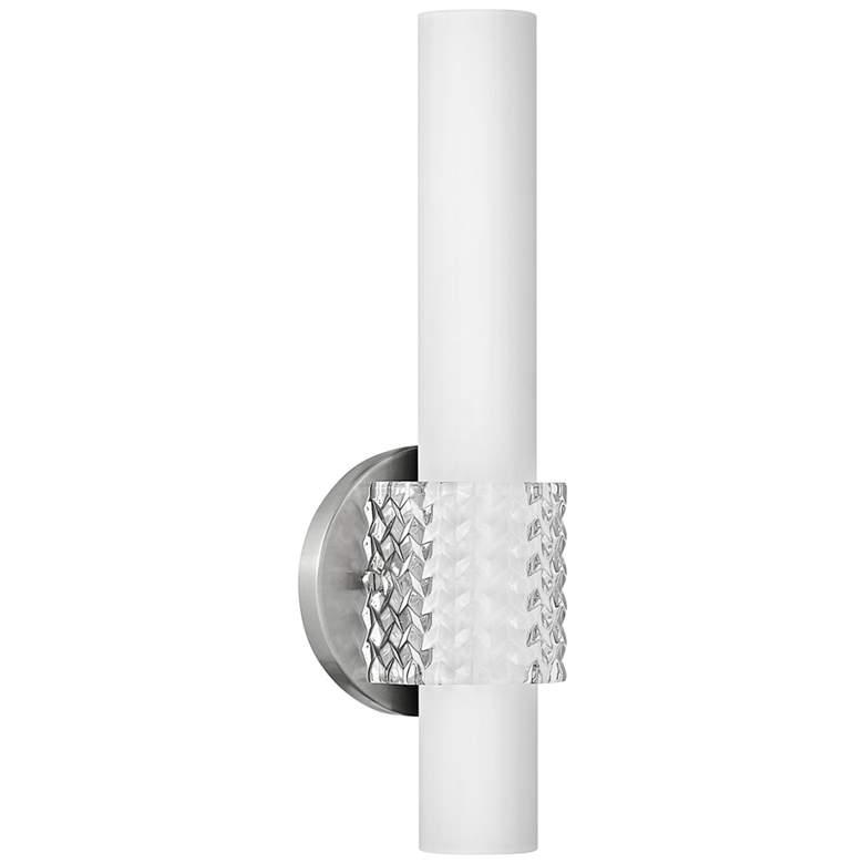 """Hinkley Vivi 5 1/2"""" Wide Brushed Nickel LED Bath Light"""