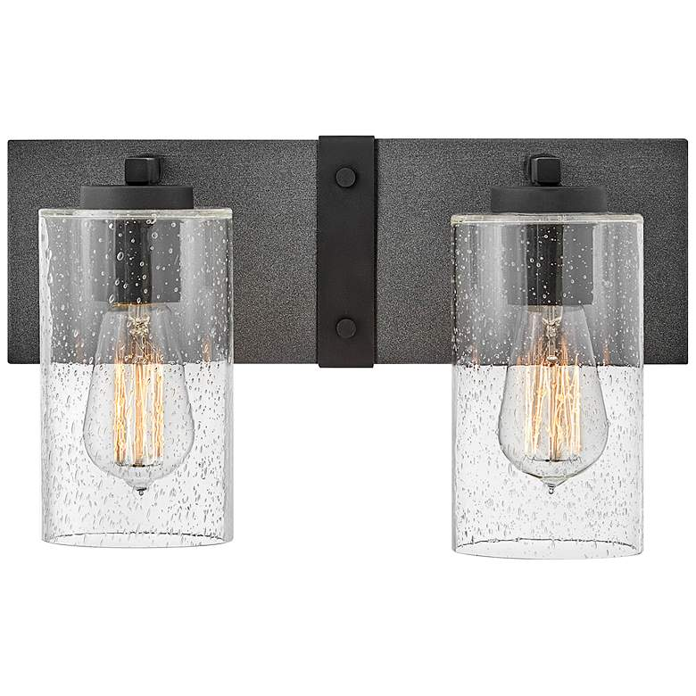 "Hinkley Sawyer 8 1/4"" High Aged Zinc 2-Light Wall Sconce"