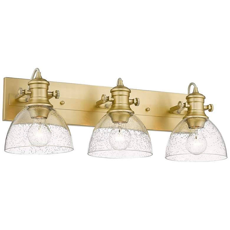 "Hines 25 1/4""W Brushed Champagne Bronze 3-Light Bath Light"
