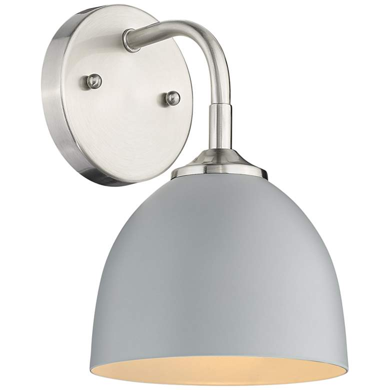 """Zoey 10"""" High Pewter and Matte Gray Wall Sconce"""