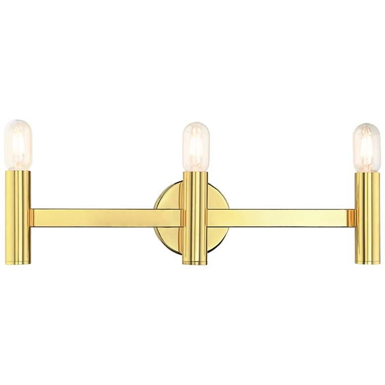 "Copenhagen 23 1/2"" Wide Polished Brass 3-Light Bath Light"