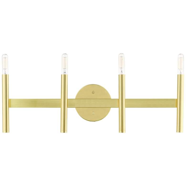 """Copenhagen 23 1/2"""" Wide Satin Brass 4-Light Bath Light"""