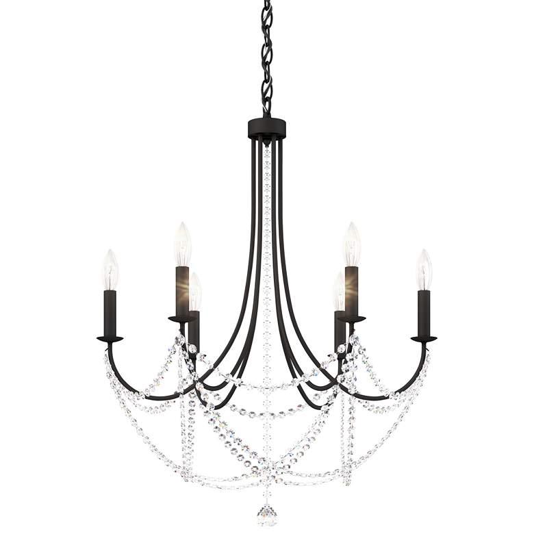 """Schonbek Verdana 24"""" Wide Matte Black 6-Light Pendant Light"""
