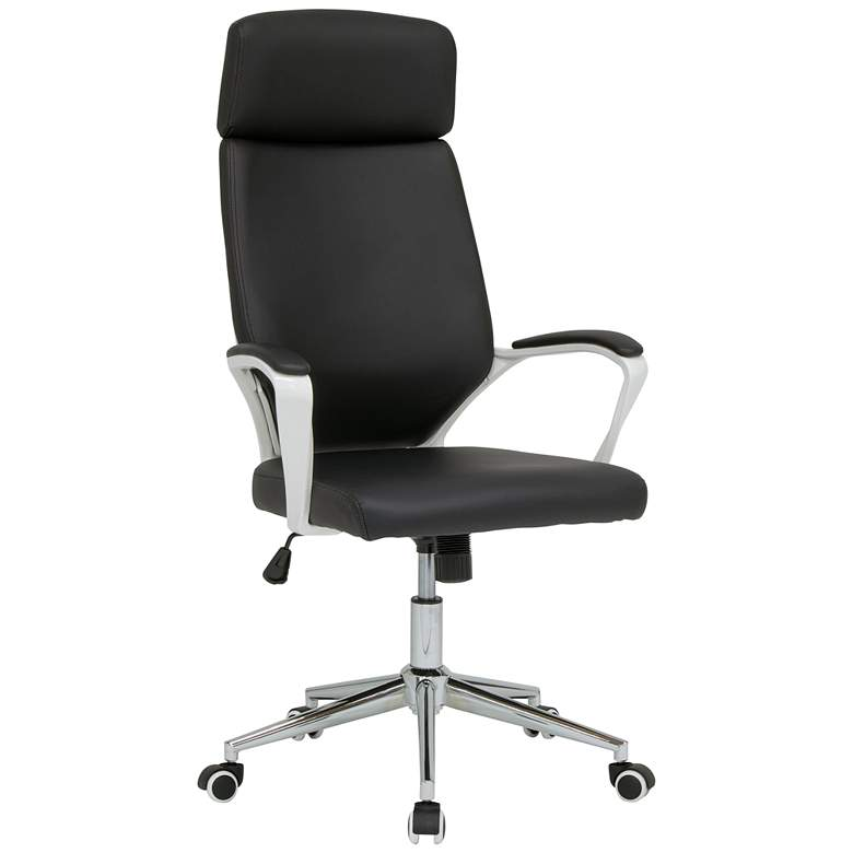 High Back Deluxe Black Adjustable Swivel Managers Chair
