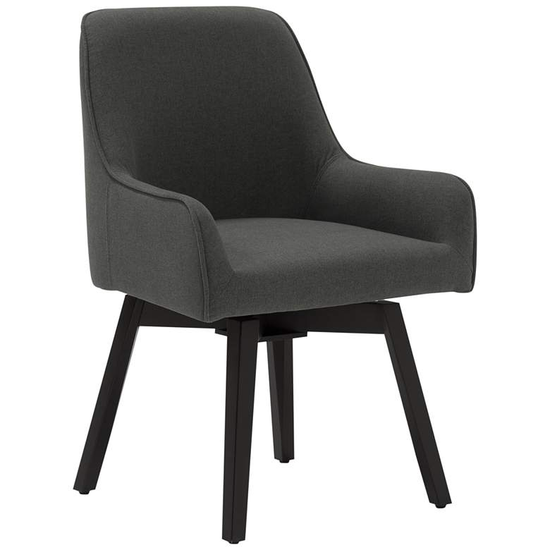 Spire Pewter Gray Fabric Swivel Task Chair