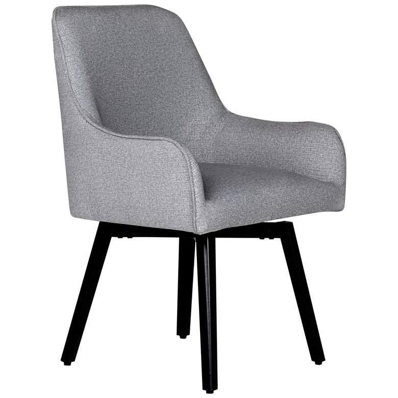 Spire Heather Gray Fabric Luxe Swivel Accent Chair