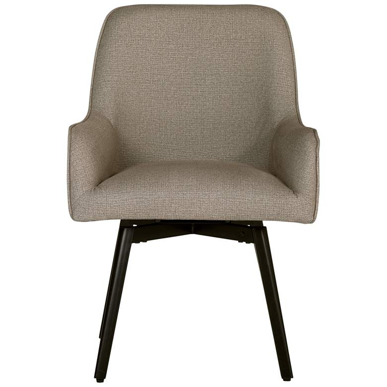 Spire Camel Beige Fabric Luxe Swivel Accent Chair
