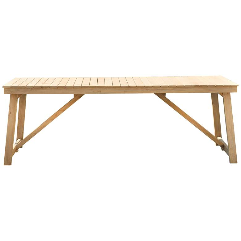 "Klaire 79"" Wide Rectangular Teak Wood Patio Dining Table"