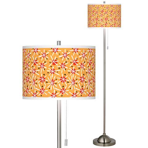 Seastar Brushed Nickel Pull Chain Floor Lamp
