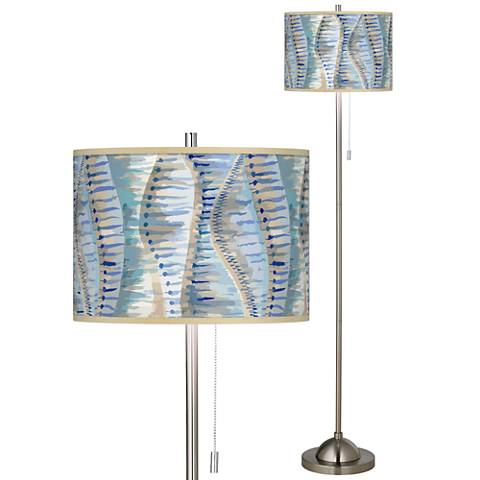 Siren Brushed Nickel Pull Chain Floor Lamp
