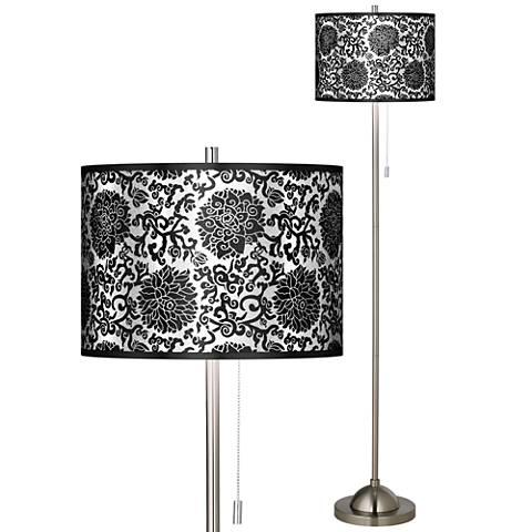 Thomas Paul Blossom Silver Metallic Brushed Nickel Floor Lamp