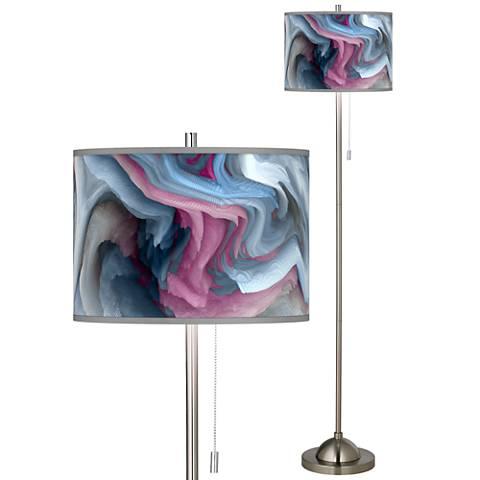 Europa Brushed Nickel Pull Chain Floor Lamp