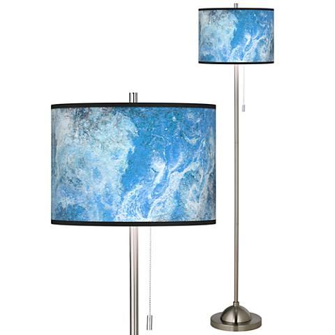 Ultrablue Brushed Nickel Pull Chain Floor Lamp