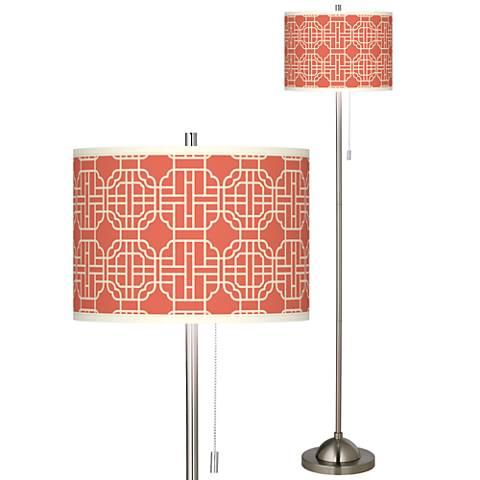 Mandarin Brushed Nickel Pull Chain Floor Lamp