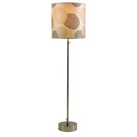 Lights Up! CanCan 2 Adjustable Black Mumm Shade Floor Lamp