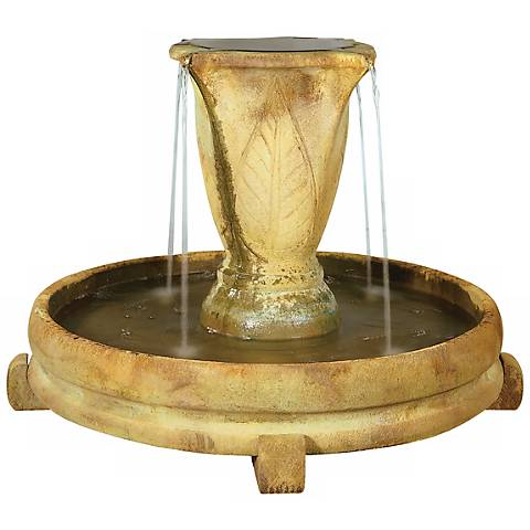 "Henri Studio 28"" High Overflow Leaf Urn Garden Fountain"