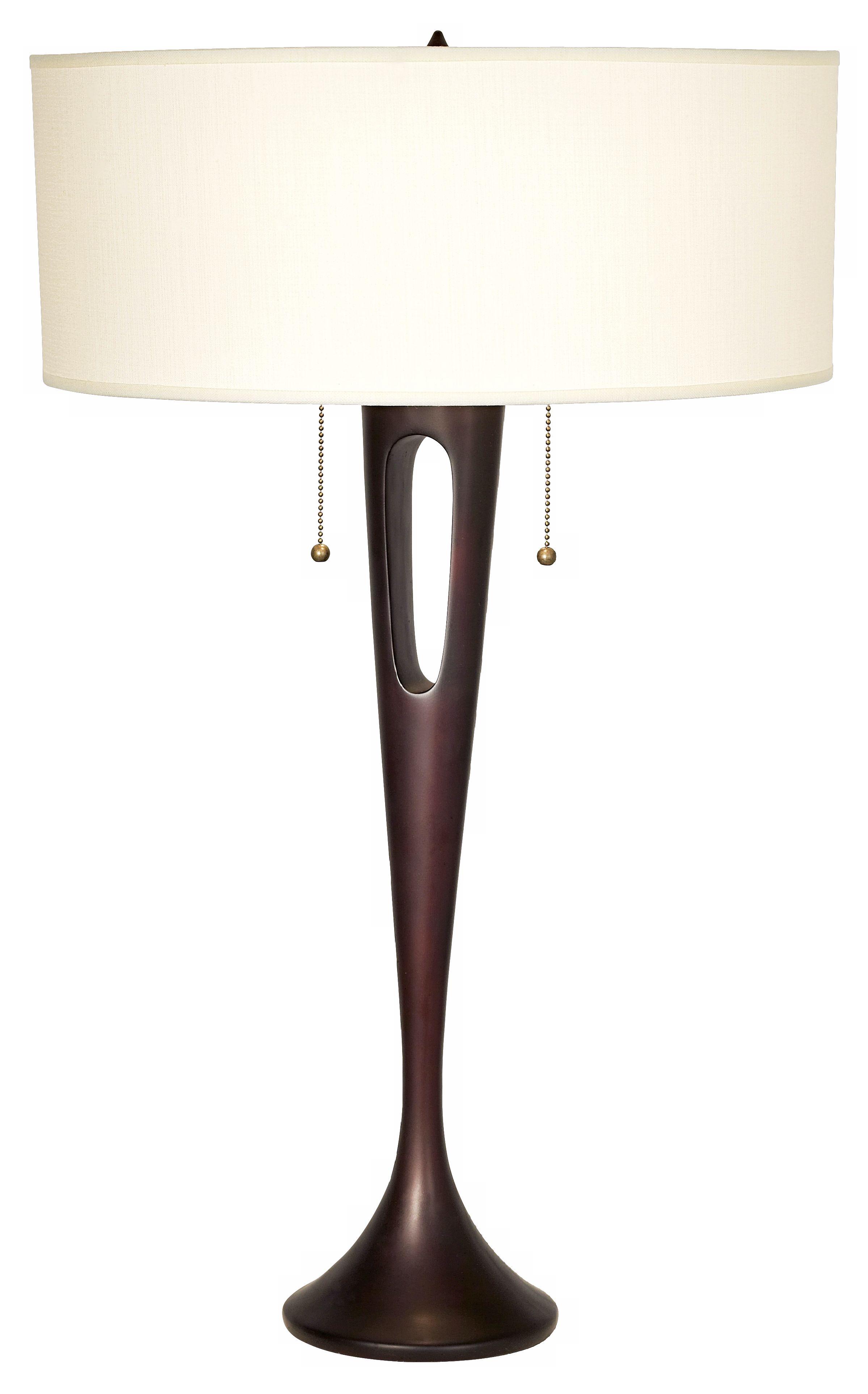 Lights Up! French Mod Bronze Ivory Ipanema Table