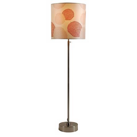 Lights Up! CanCan 2 Adjustable Red Mumm Shade Floor Lamp