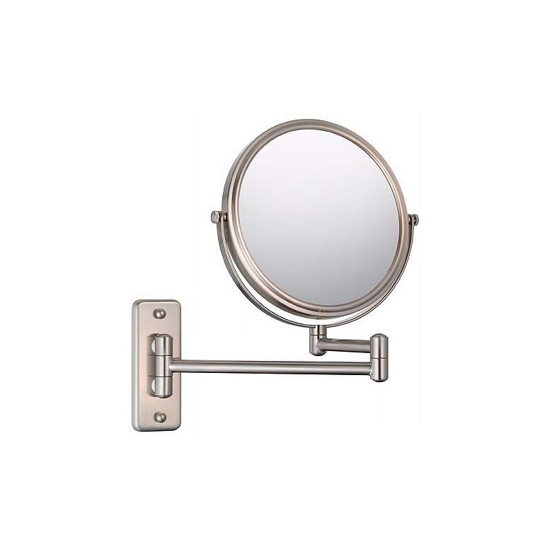 Aptations Brushed Nickel 5X Magnification Vanity Mirror