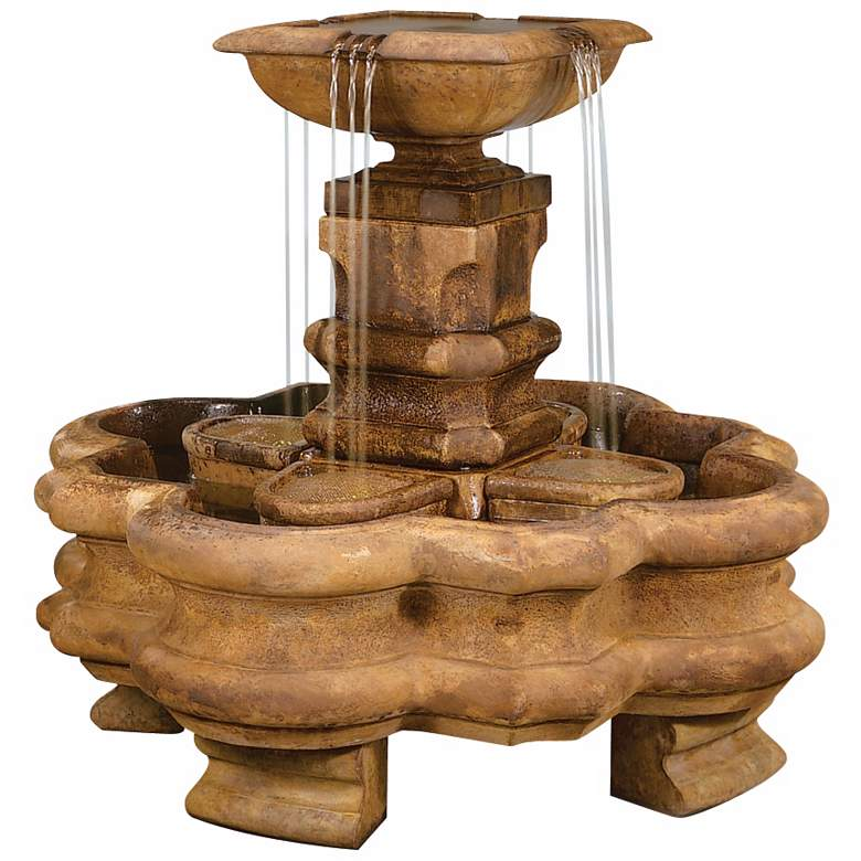 "Henri Studio 43"" High Classic Planter Pillar Fountain"