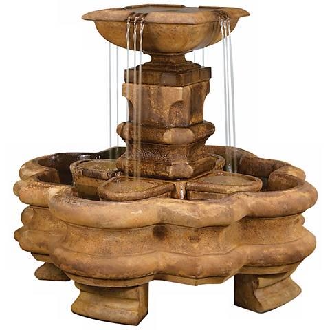 "Henri Studio 43"" High Classic Planter Pillar Fountain"