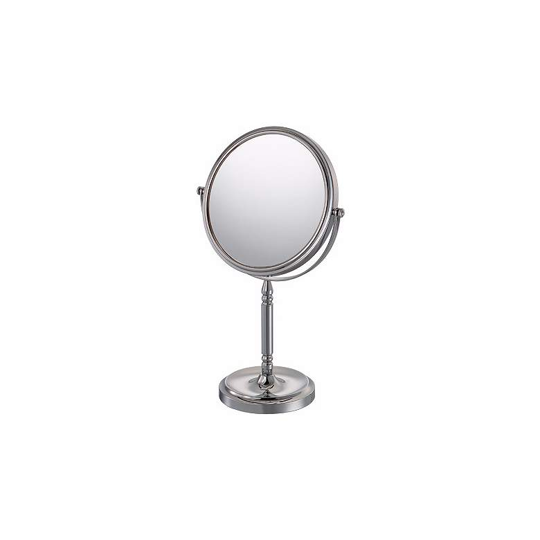 Chrome Recessed Base 5X Magnified Vanity Makeup Stand