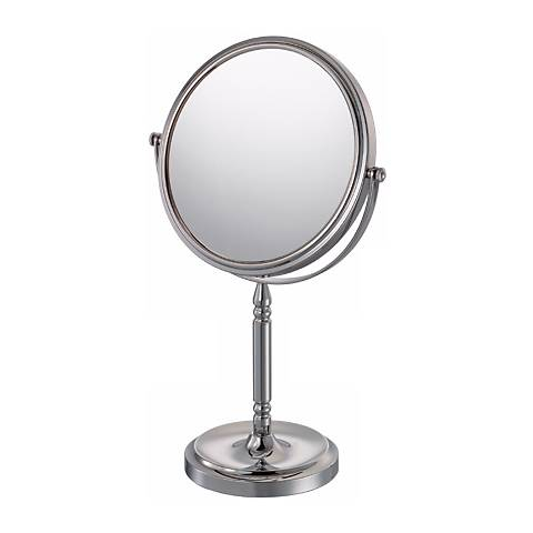 """Chrome Recessed Base Vanity Stand 13 3/4"""" High Mirror"""