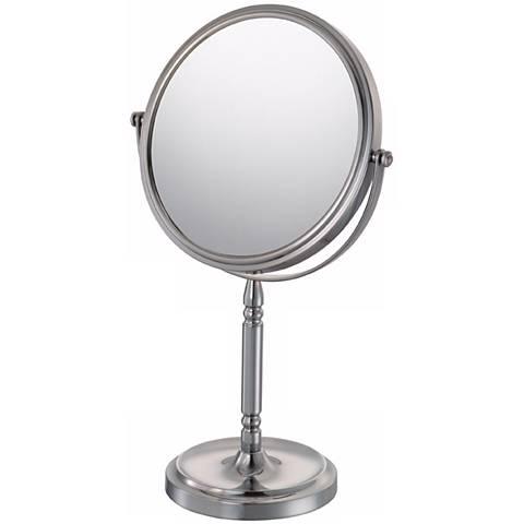 Aptations Brushed Nickel Recessed Base Vanity Stand Mirror