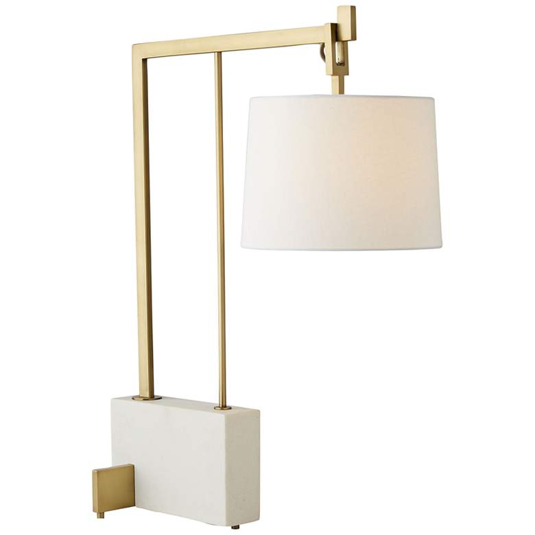 Arteriors Home Piloti Gold Metal and Faux Marble Desk Lamp