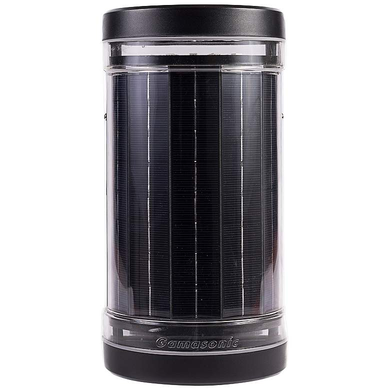 """Infinity 9 1/2""""H Black Solar LED Up/Down Outdoor Wall Light"""