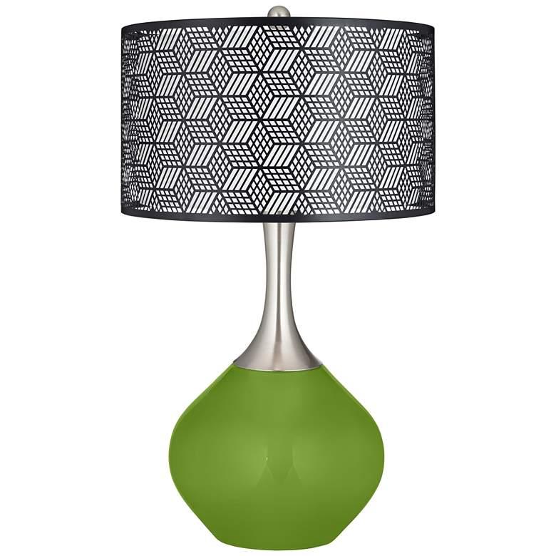 Gecko Black Metal Shade Spencer Table Lamp