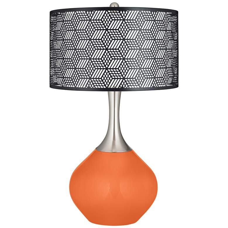 Nectarine Black Metal Shade Spencer Table Lamp