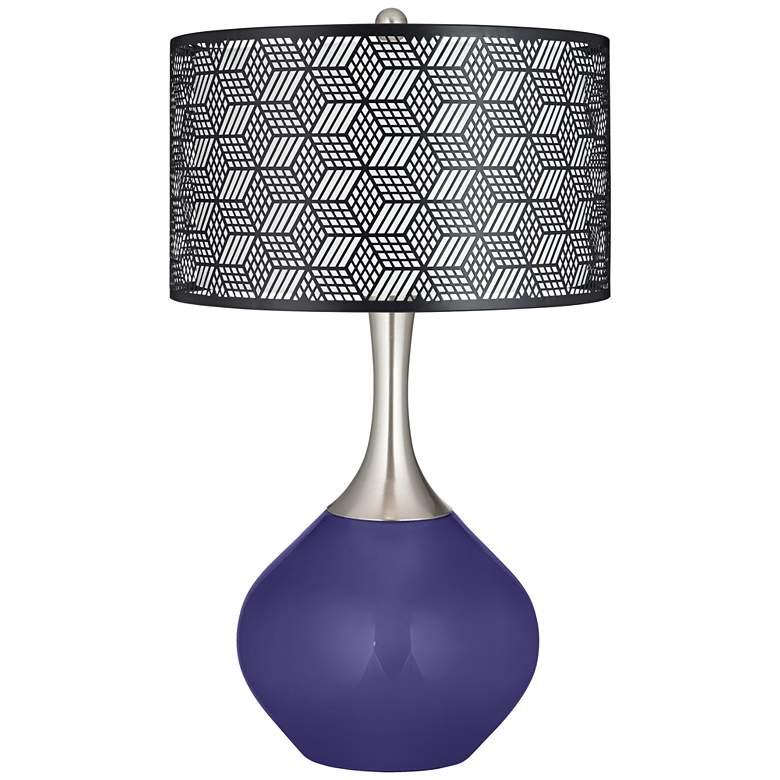 Valiant Violet Black Metal Shade Spencer Table Lamp