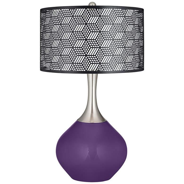 Acai Black Metal Shade Spencer Table Lamp