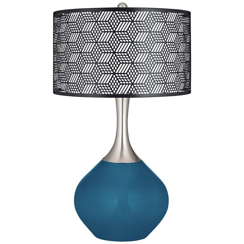 Bosporus Black Metal Shade Spencer Table Lamp