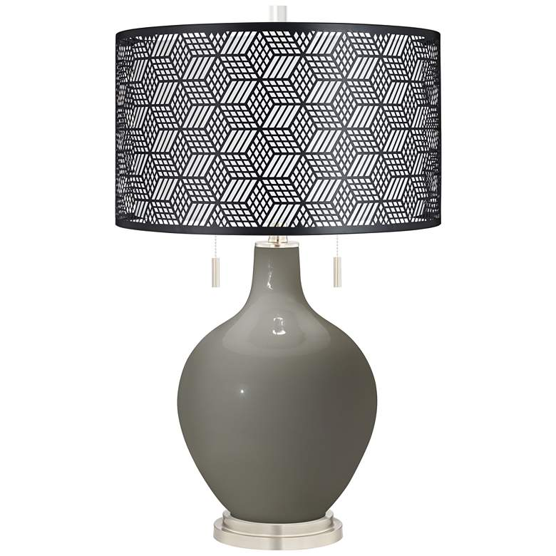 Guantlet Gray Toby Table Lamp With Black Metal Shade