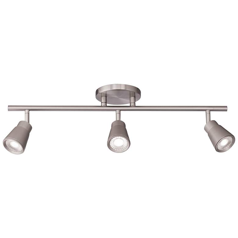 WAC Solo 3-Light Brushed Nickel LED Track Fixture