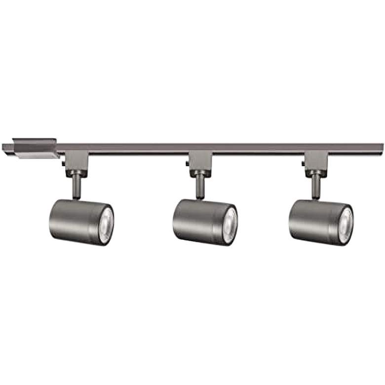 Charge 3-Light Brushed Nickel LED Track Kit for Halo Systems