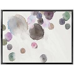 """Watercolor Droplets 41 3/4"""" Wide Framed Canvas Wall Art"""