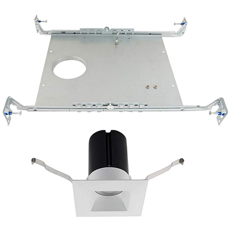 """WAC Ion 2"""" White Square LED Recessed Light with Frame-in Kit"""