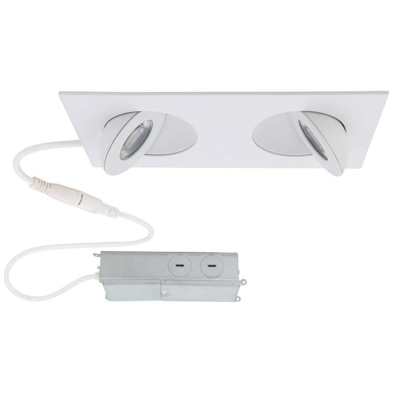 "Lotos 2"" White Adjustable 2-Light LED Recessed Downlight Kit"