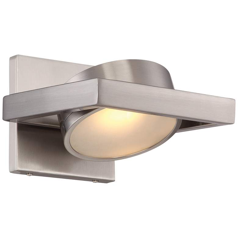 """Hawk 5"""" High Brushed Nickel Metal LED Wall Sconce"""