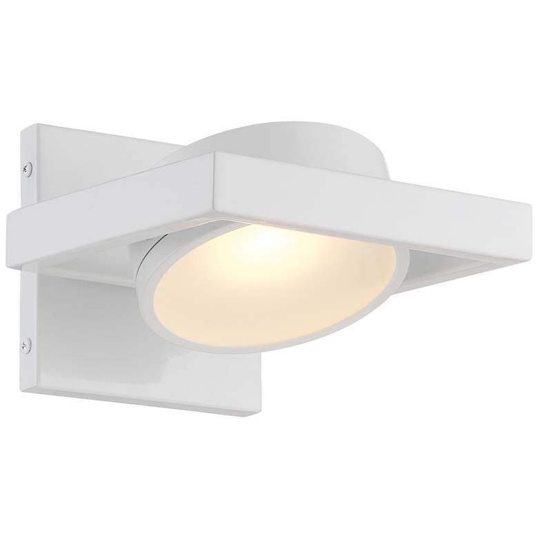 """Hawk 5"""" High White Metal LED Wall Sconce"""