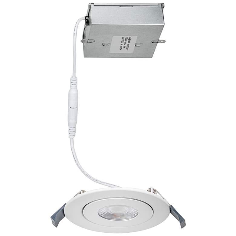 "WAC Lotos 4"" White Round Adjustable 5-CCT LED Recessed Kit"