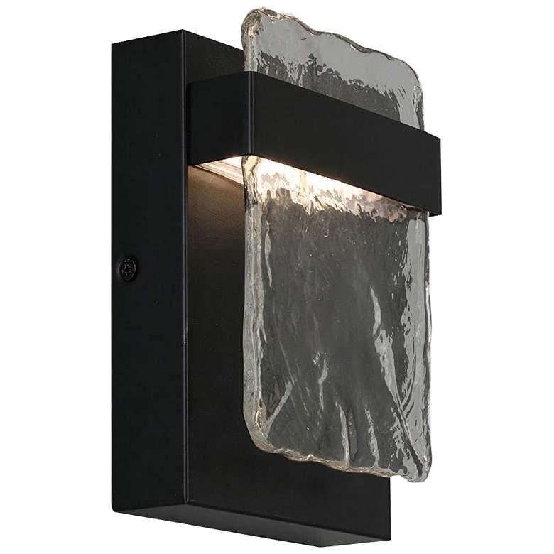 "Eglo Madrona 7"" High Black LED Wall Sconce"