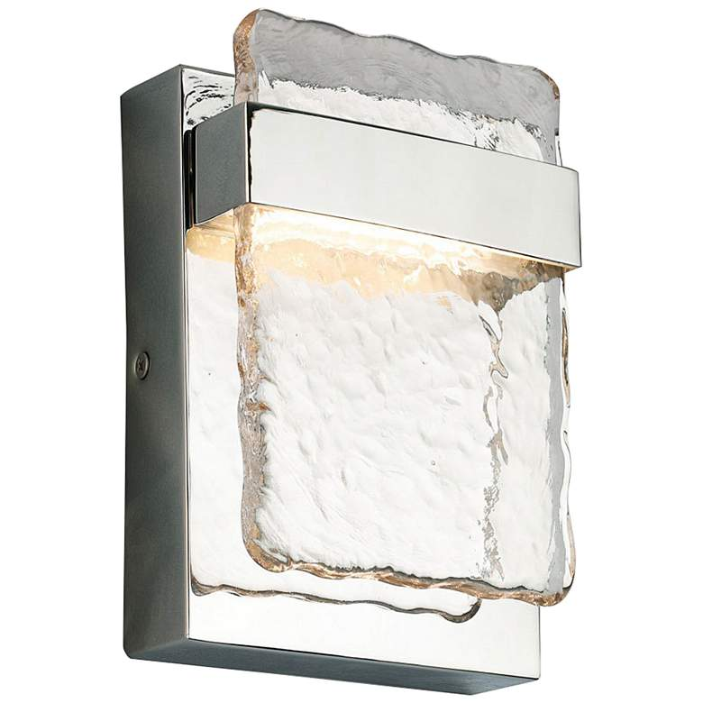 """Eglo Madrona 7"""" High Stainless Steel LED Wall Sconce"""