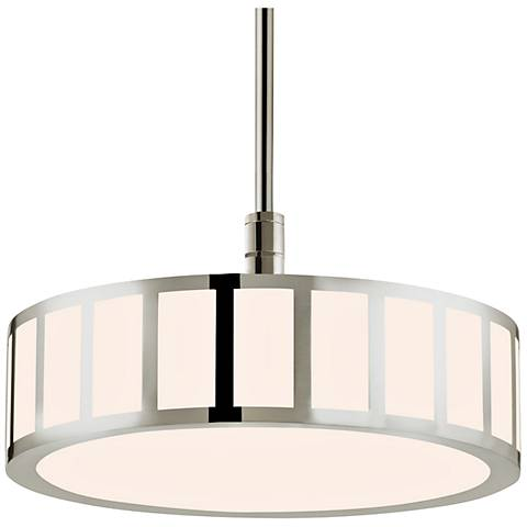 "Sonneman Capital 16 1/2"" Wide Nickel LED Pendant Light"