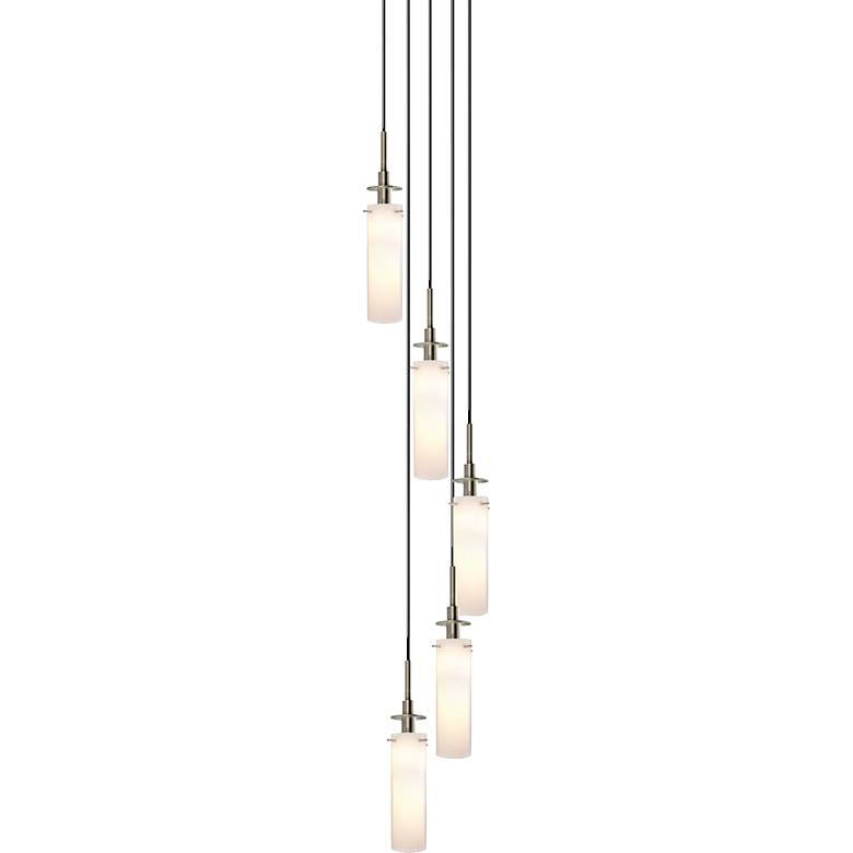 "Sonneman Candle 12"" Wide Satin Nickel Multi Light Pendant"
