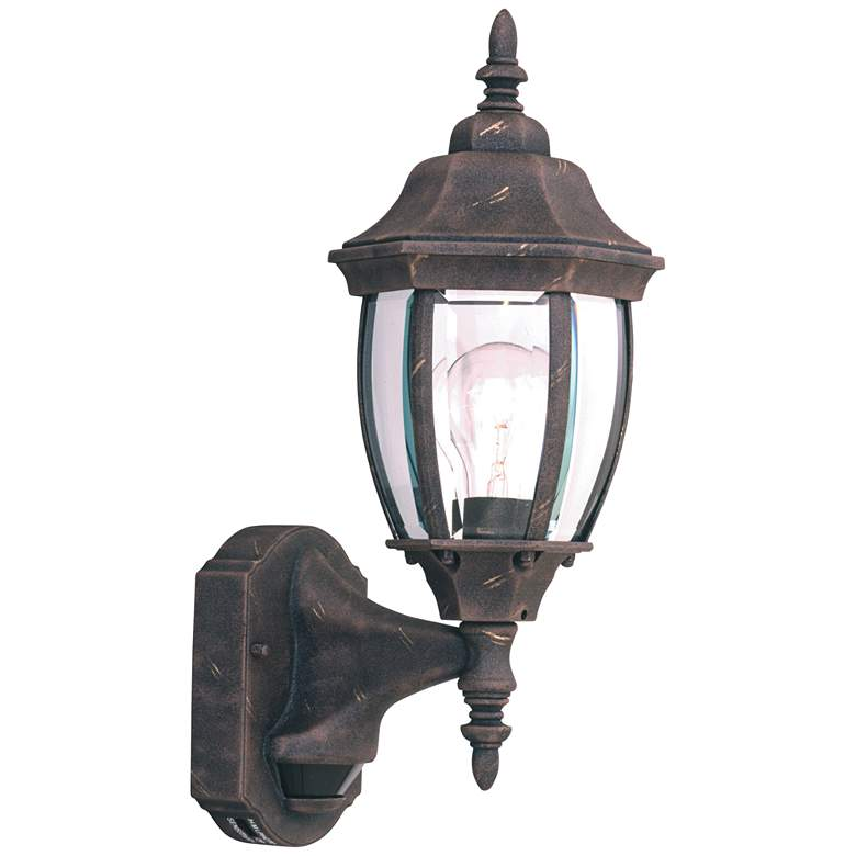 """Tiverton 16 1/4""""H Gold Dusk to Dawn Outdoor Wall Light"""